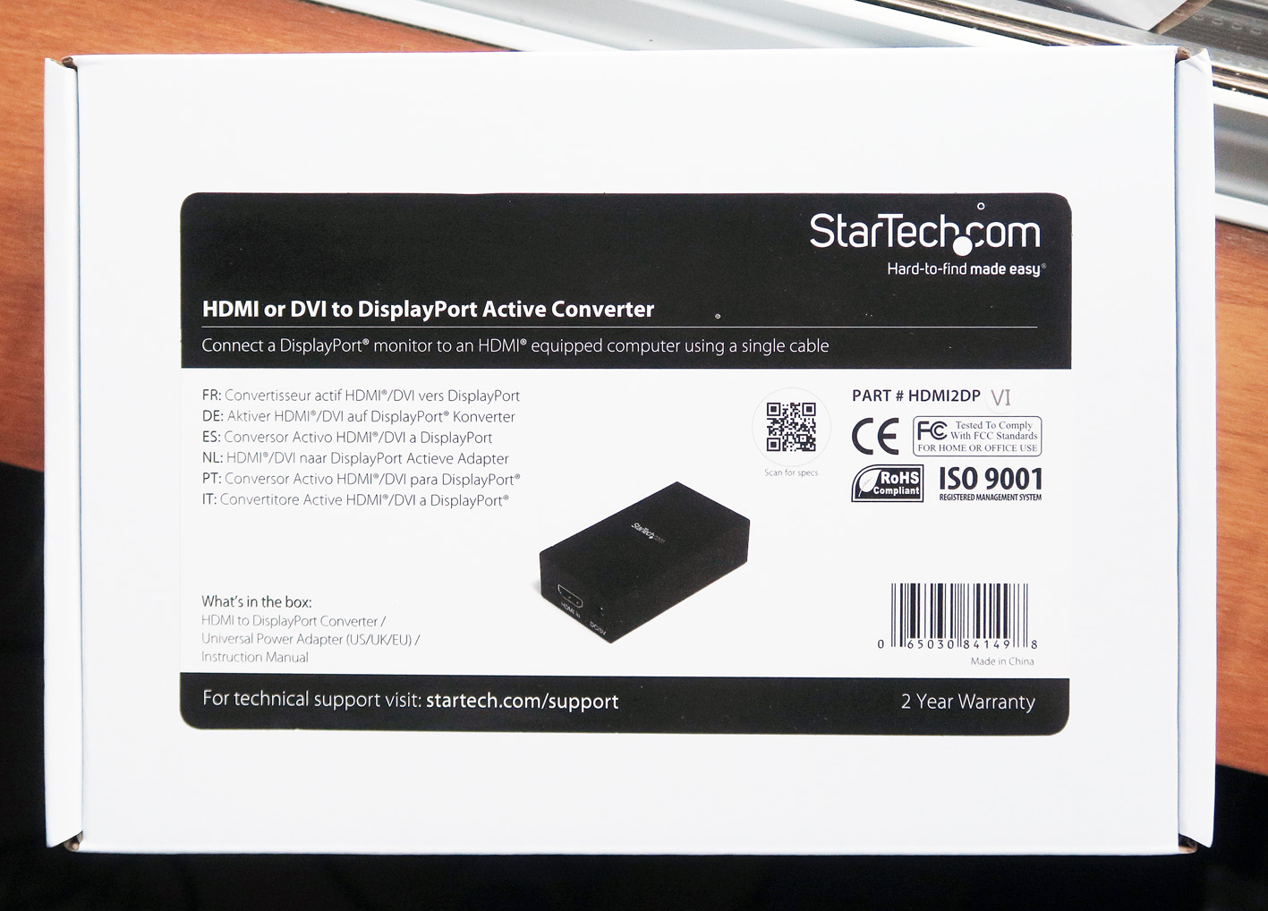 1 STARTECH HDMI to DISPLAYPORT ACTIVE CONVERTER box copy.jpg