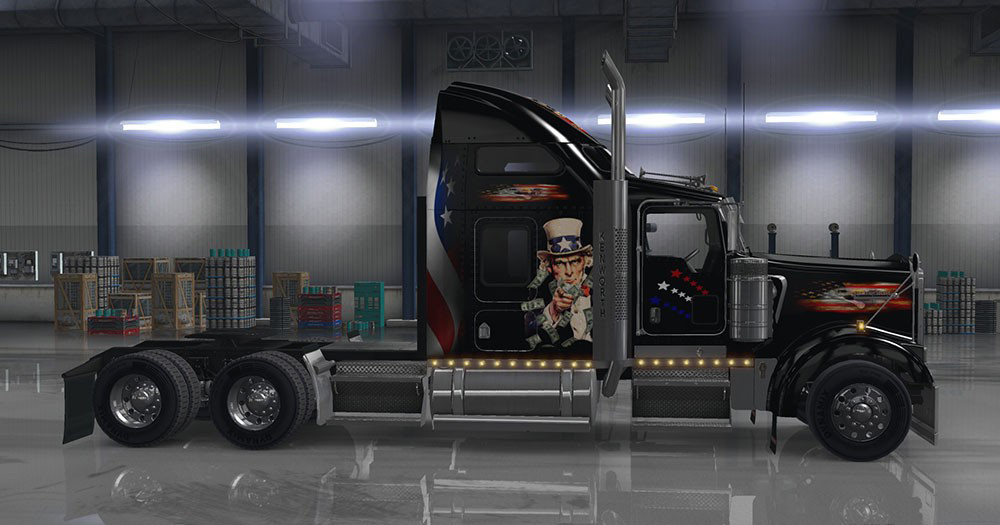 Kenworth W900 USA Themed Skin | RaceDepartment