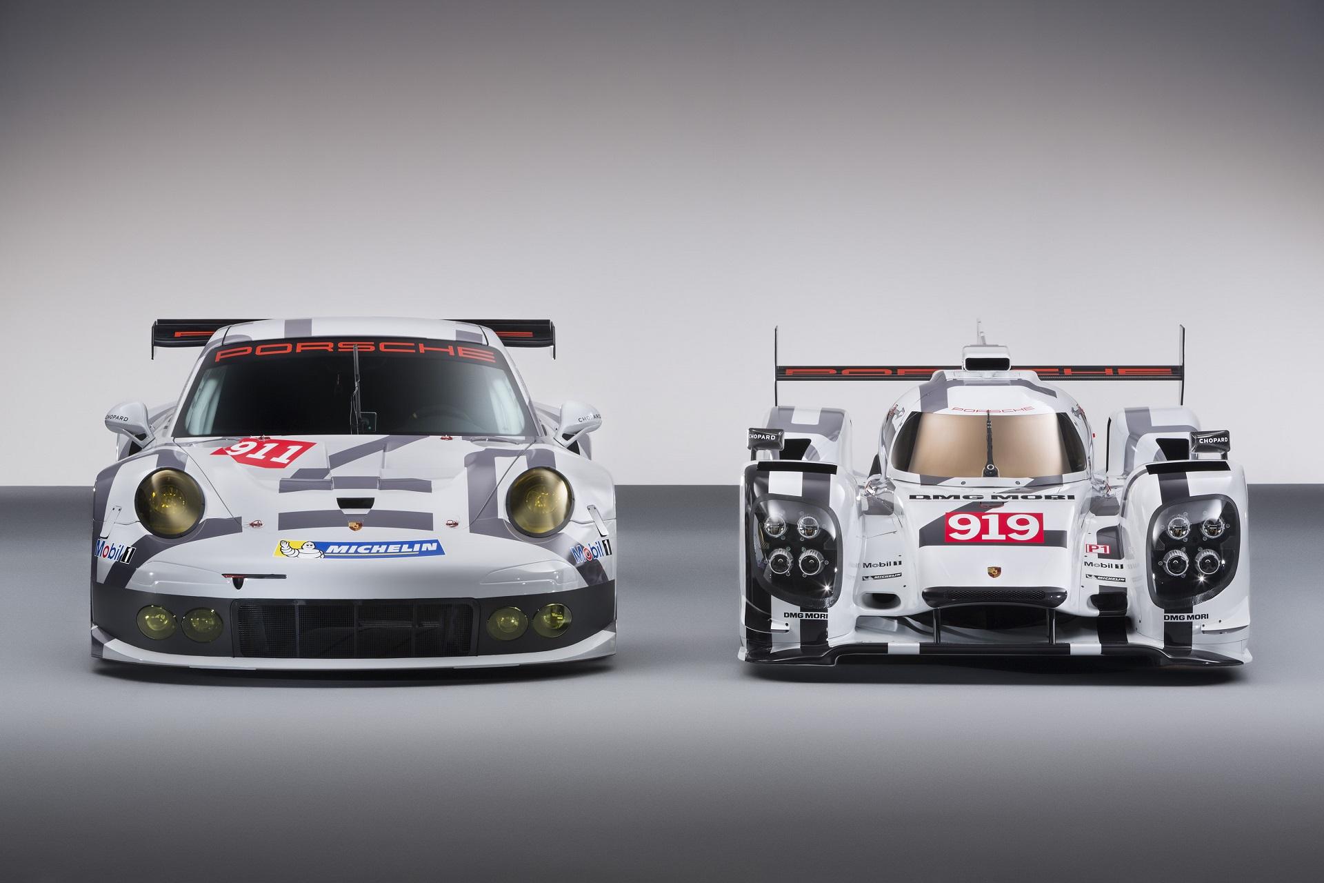 2014 Porsche Motorsport Worldwide- 919 Hybrid-911 RSR- Head-On.jpg