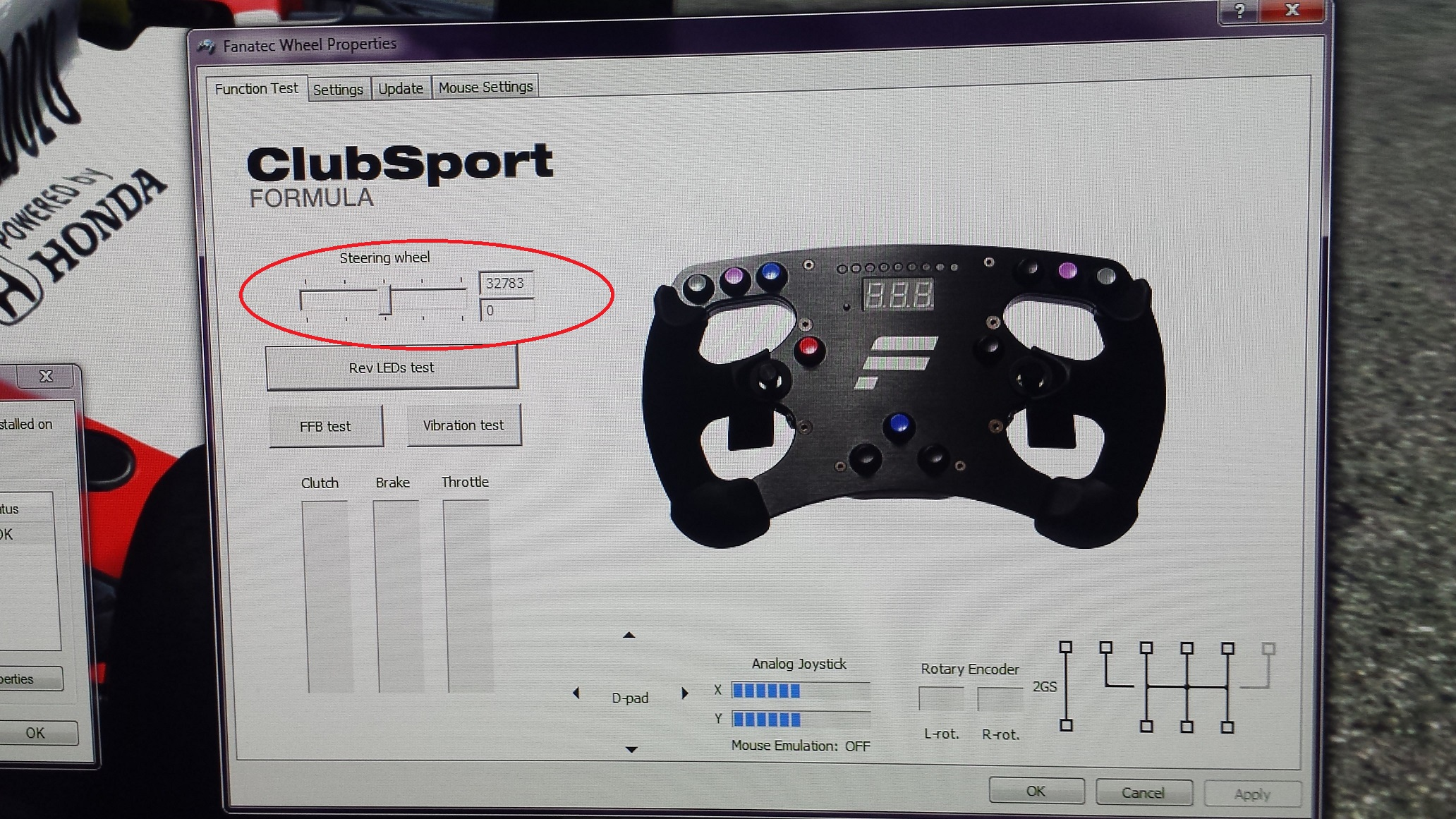Fanatec clubsport wheelbase losing centre position again