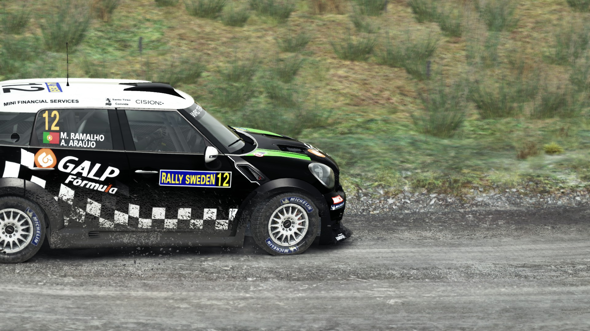 WRC TEAM MINI PORTUGAL Livery For MINI Countryman Rally - Wrc portugal 2016 map