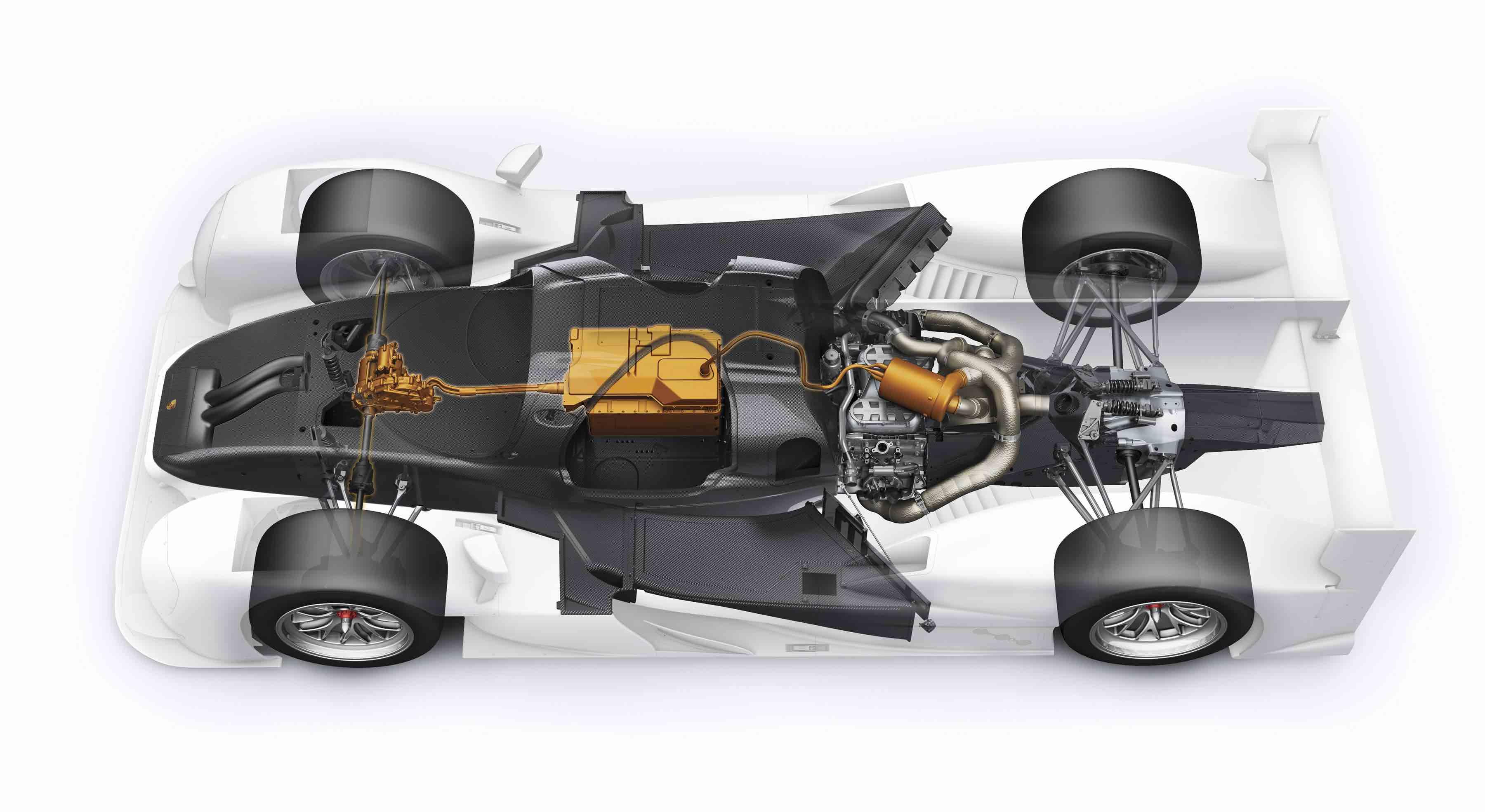 Chassis design of f1 car - 2015 Porsche 919 Hybrid Power Systems Cutaway Jpg