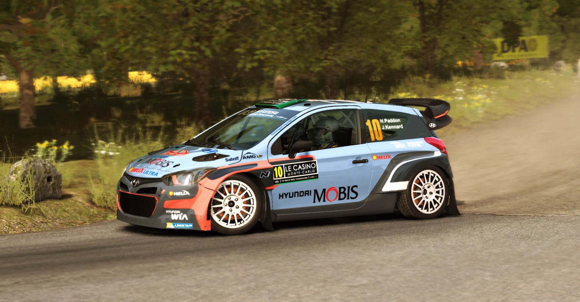 Hyundai I20 Wrc Hayden Paddon Monte Carlo Rallye 2016