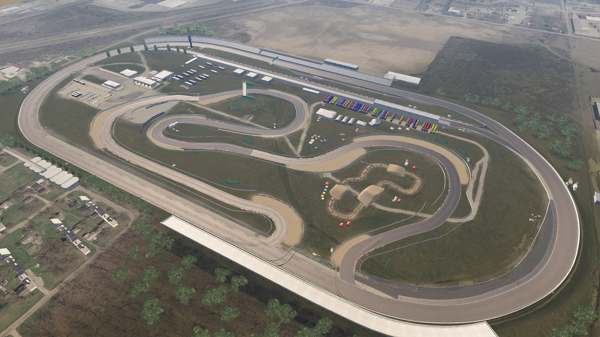 Tracks - Fort Wayne Speedway - Oval & Infield course