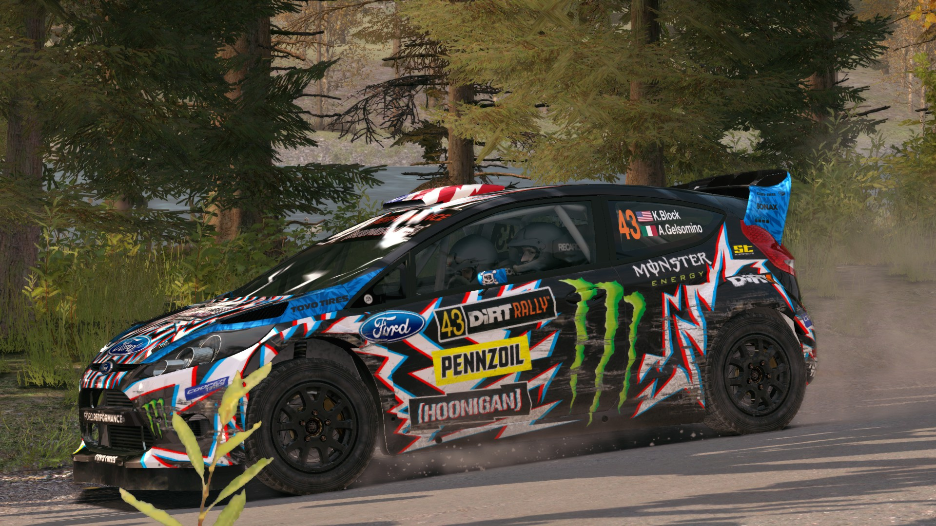 Ford Fiesta Rs Rally 2017 Hoonigan Racing Death Spray
