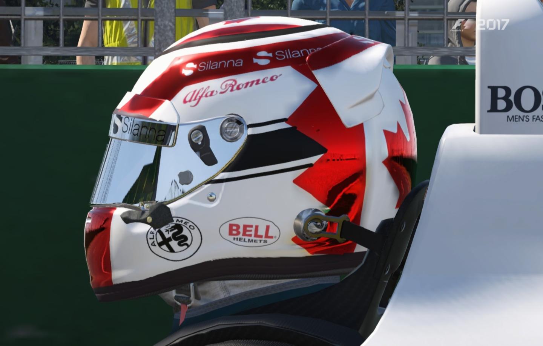 F1 2018 Alfa Romeo Sauber Canada Helmet | RaceDepartment - Latest