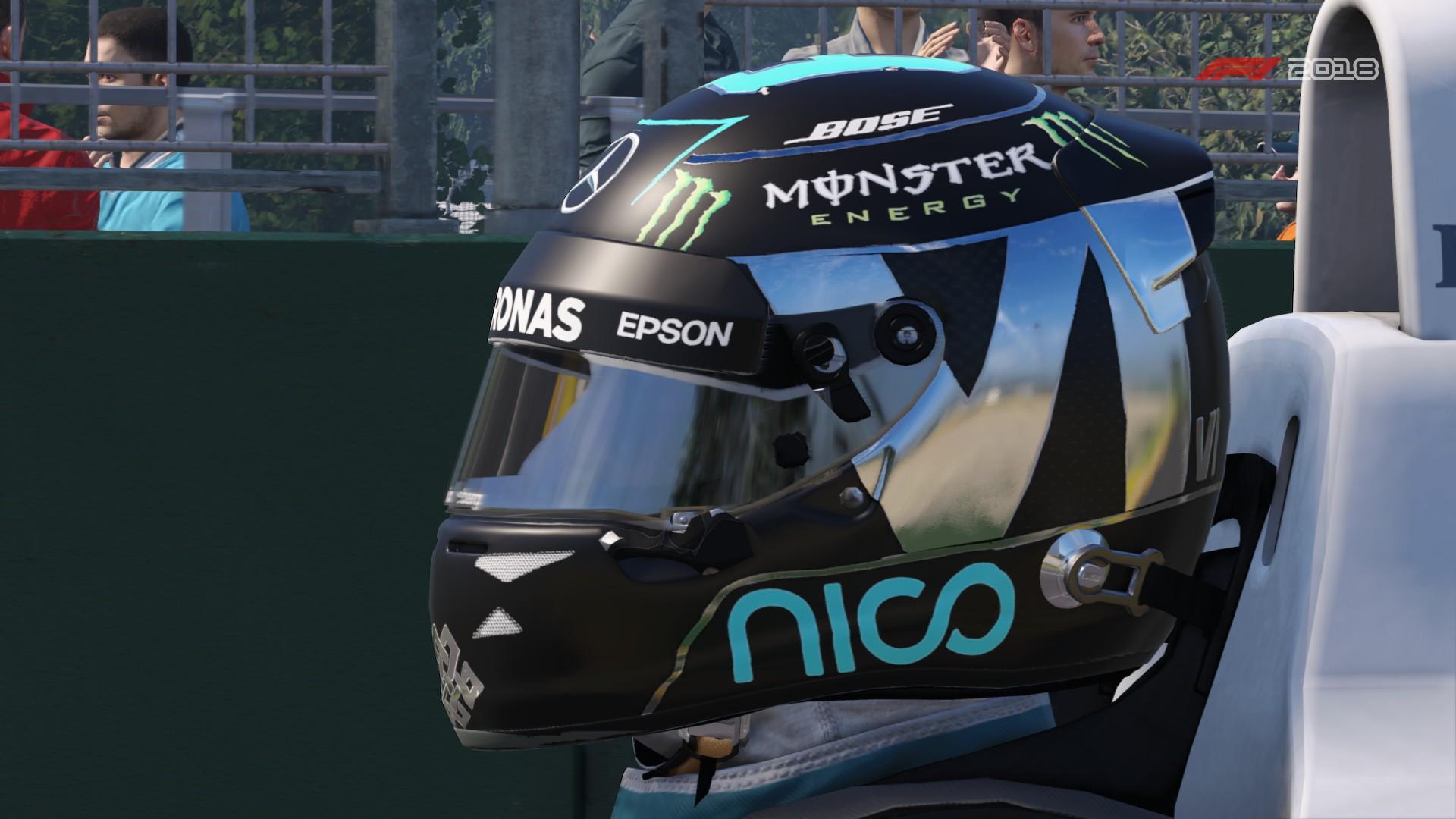 F1 2018 Rosberg helmet | RaceDepartment