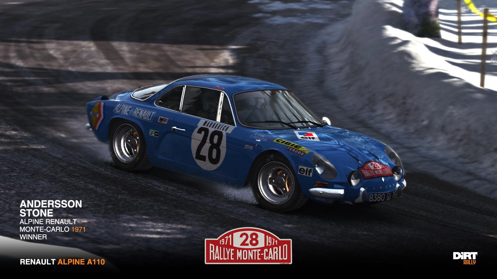 Renault Alpine A110 Monte Carlo 1971 Racedepartment