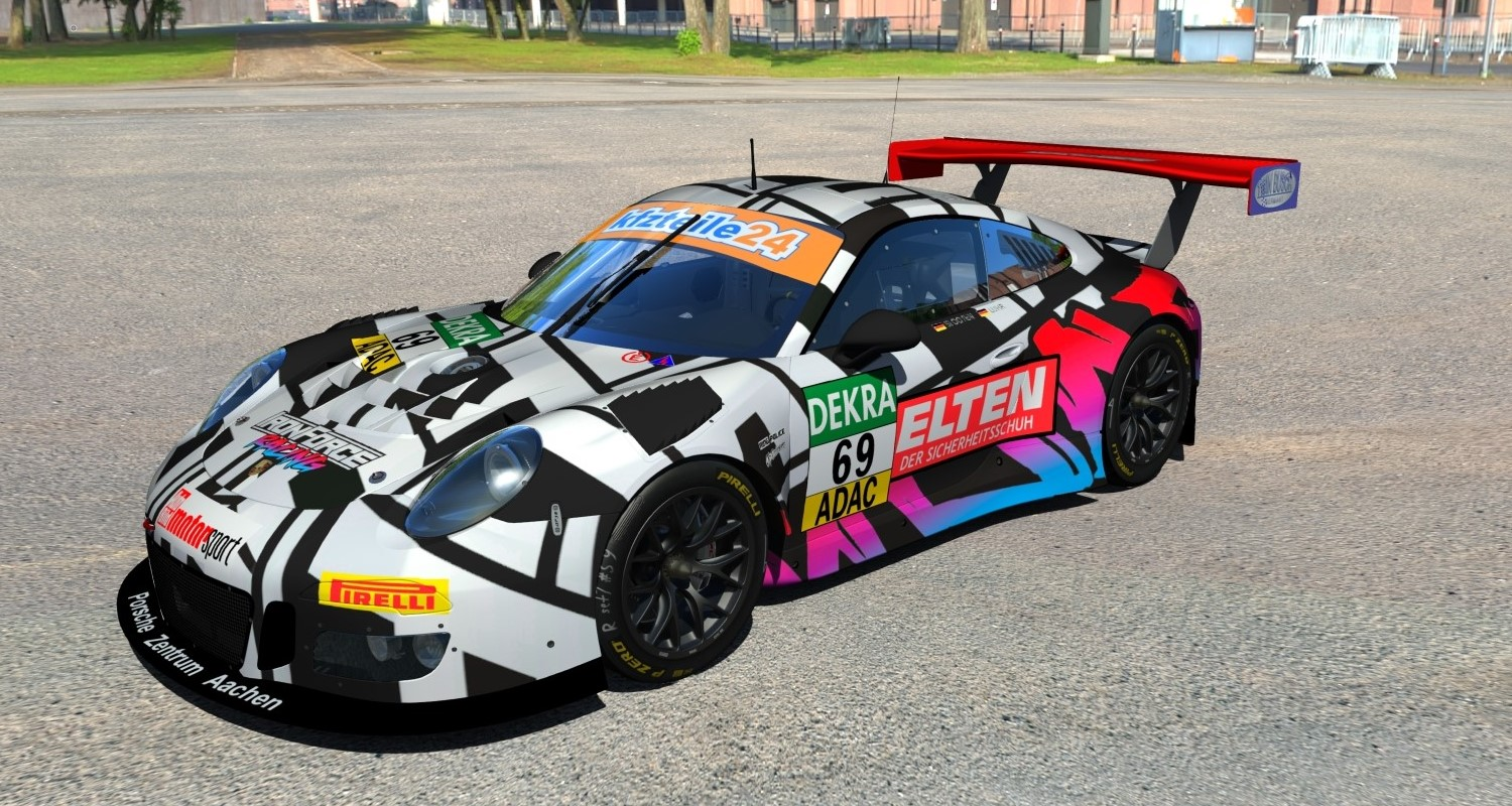 iron force racing adac gt masters 2018 small color. Black Bedroom Furniture Sets. Home Design Ideas