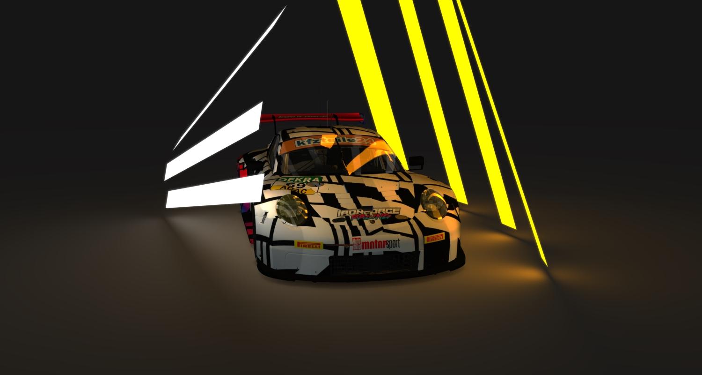 iron force racing skin for porsche 911 rsr 2017. Black Bedroom Furniture Sets. Home Design Ideas