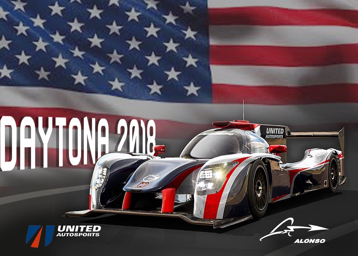 alonso united autosports team up for rolex 24 hours of daytona racedepartment. Black Bedroom Furniture Sets. Home Design Ideas