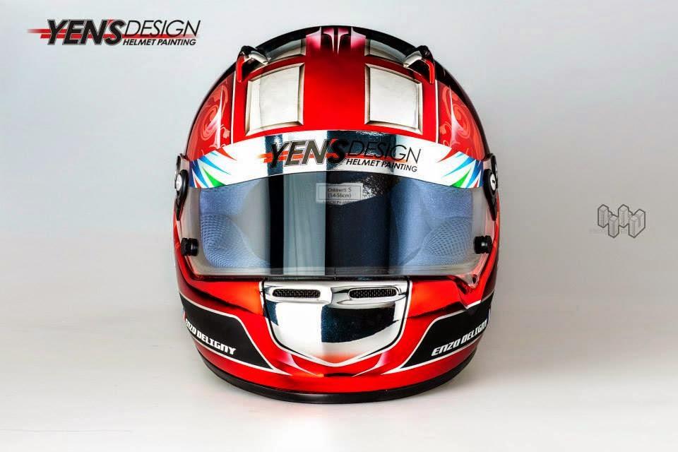 Arai CK-6S E.Deligny 2014 by Yen's Design Helmet Painting 01.jpg