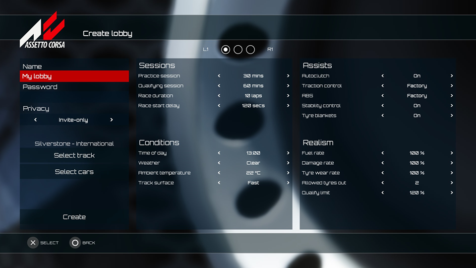 Assetto Corsa Console - Private Lobby Creation 3.png
