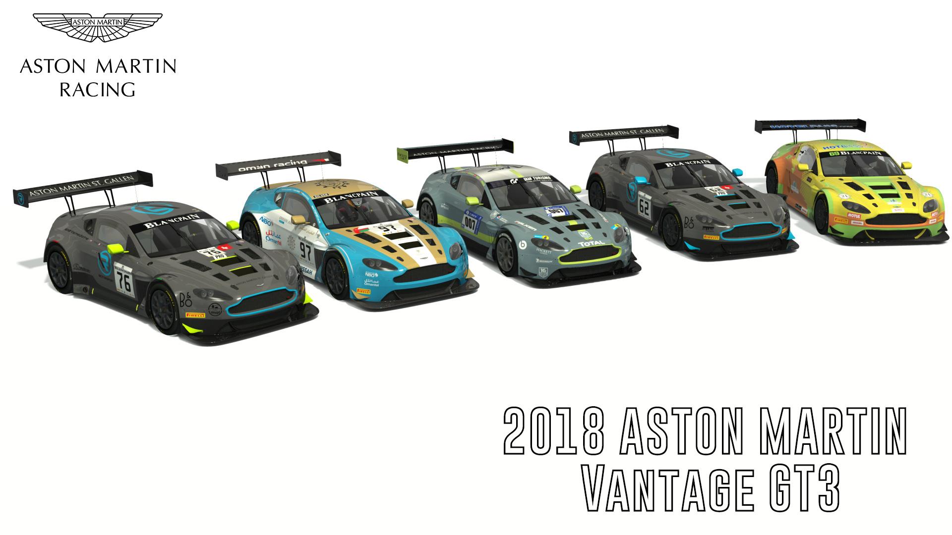 2018 Aston Martin Vantage Gt3 Livery Pack Racedepartment