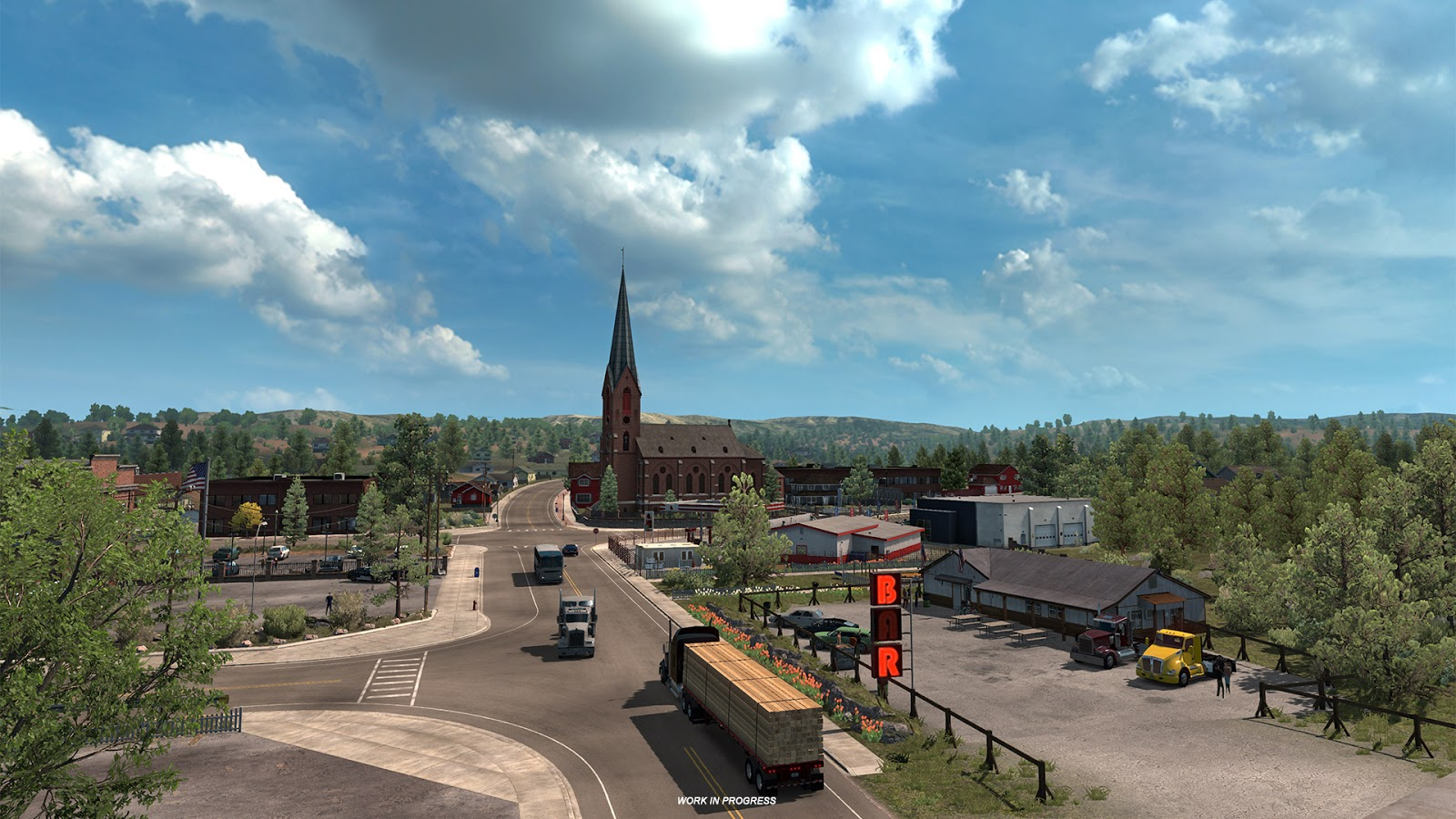 new american truck simulator oregon dlc previews. Black Bedroom Furniture Sets. Home Design Ideas