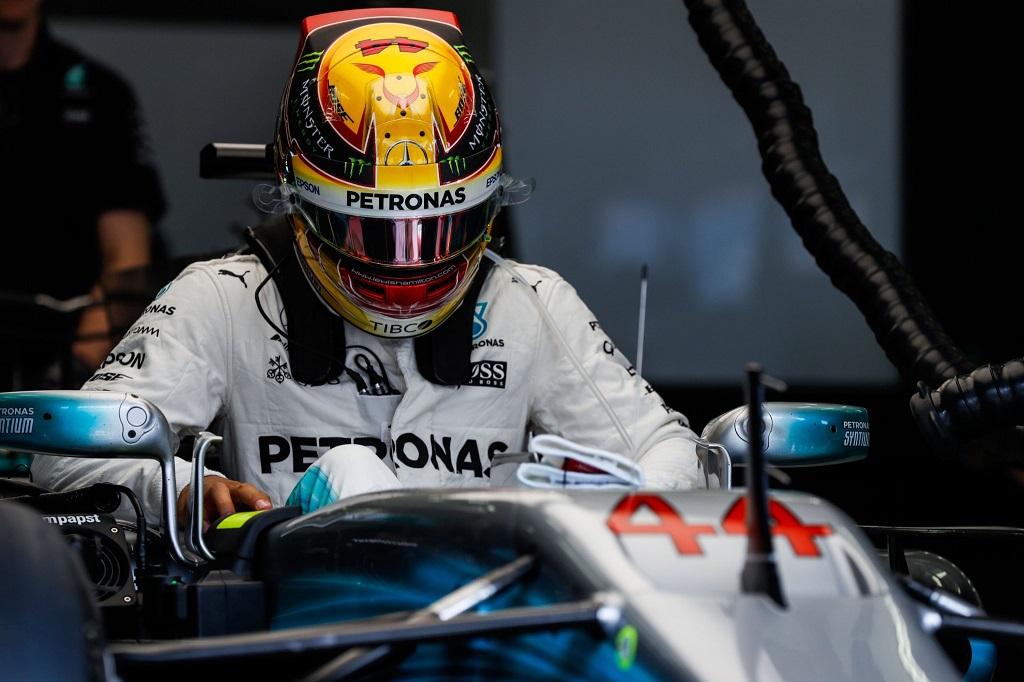 Bahrain Test Day Tuesday - Hamilton Mercedes.jpg