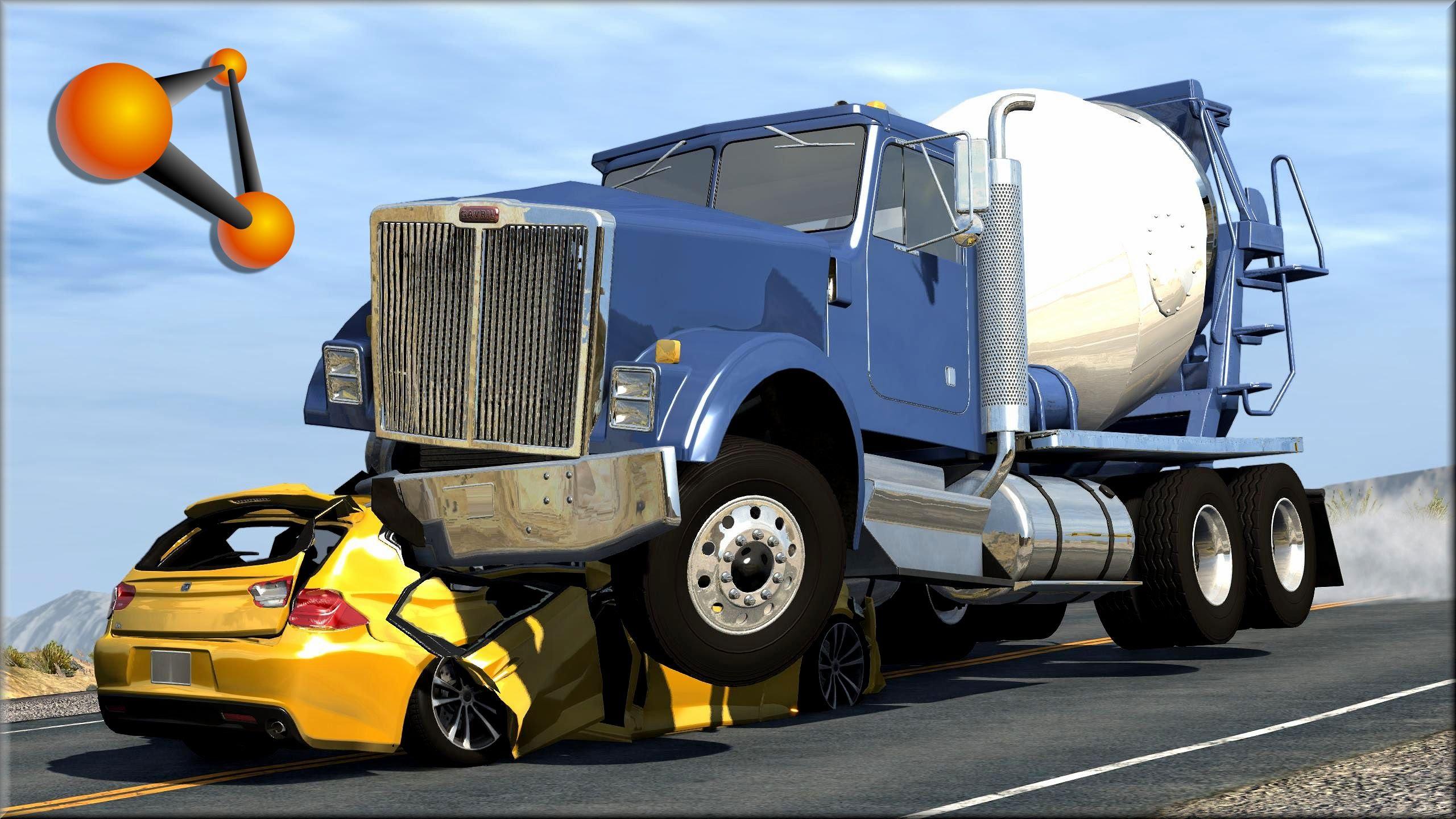 Cars Crashing Into Trucks