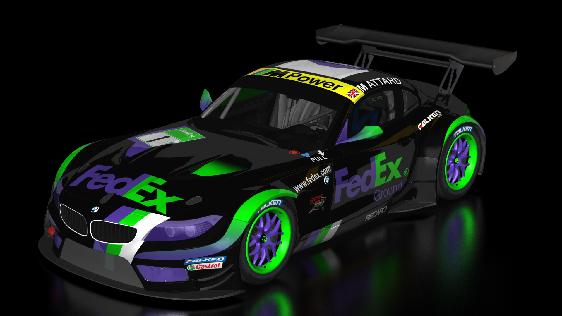 Bmw Gt3 Fedex Racing Team Livery Racedepartment