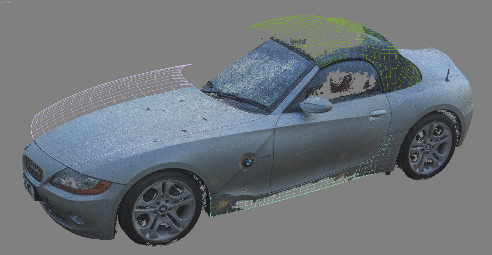 Cars Bmw Z4 3 0i E85 With Photogrammetry Wip
