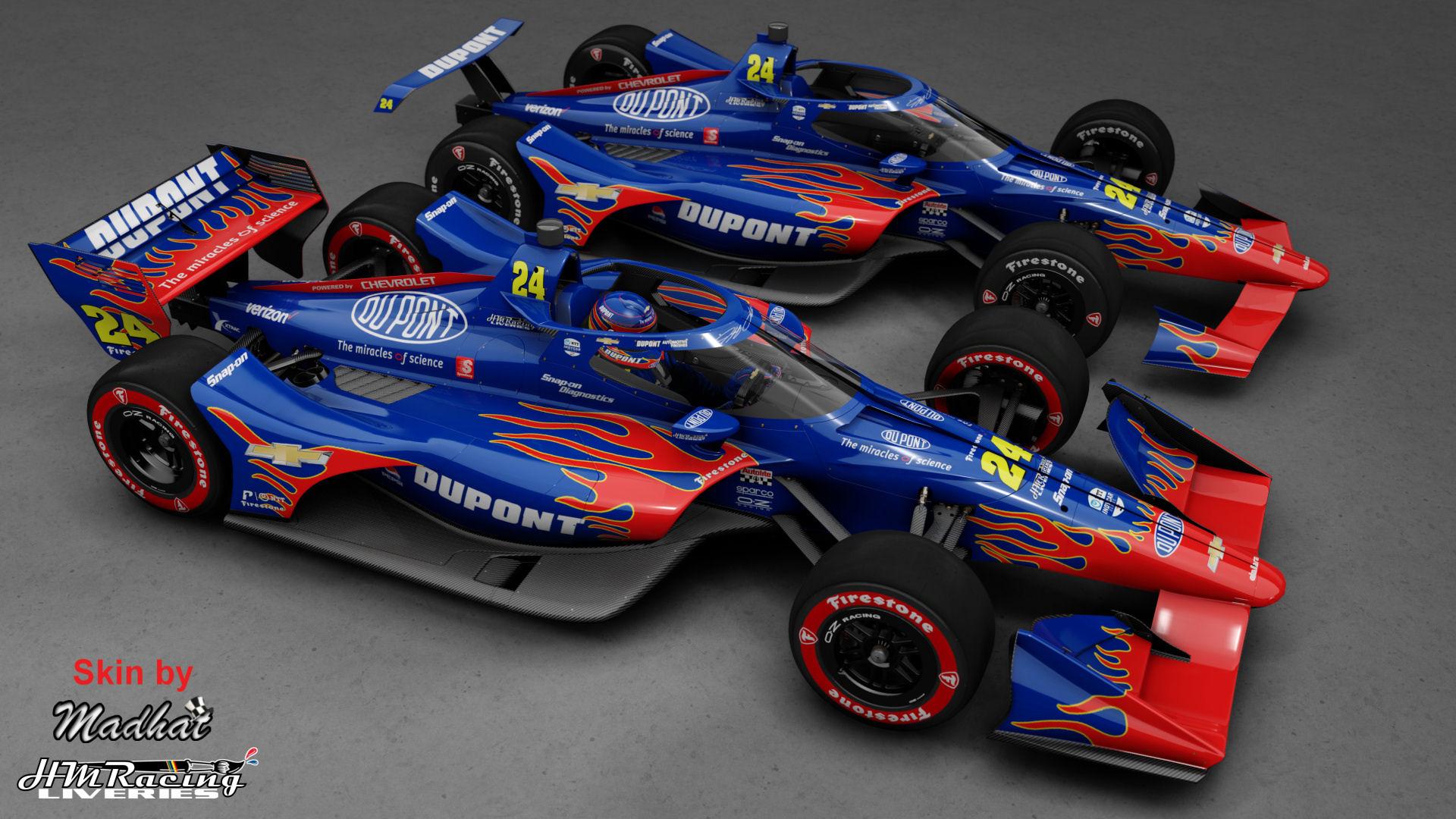 DU PONT Jeff Gordon 24 IndyCar Madhat HMRacing Liveries 01.jpg