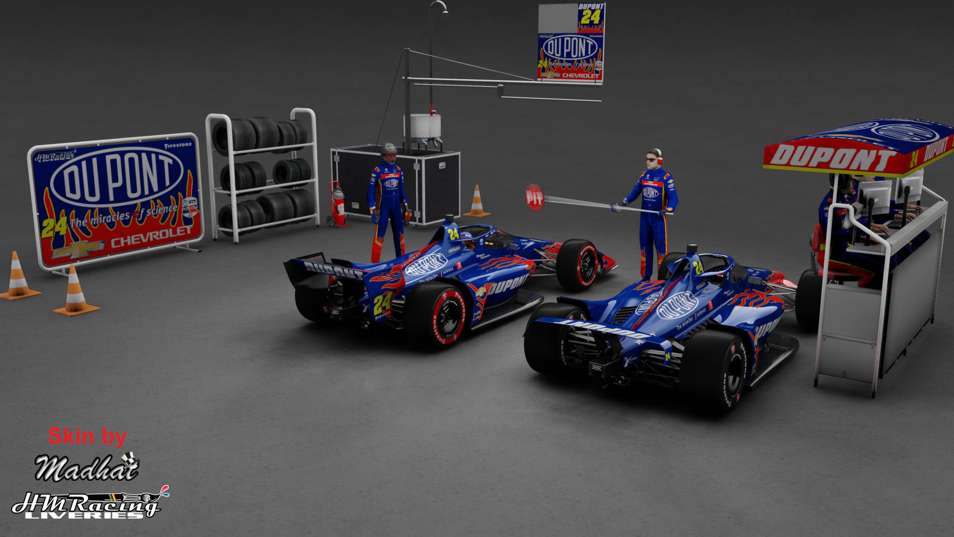 DU PONT Jeff Gordon 24 IndyCar Madhat HMRacing Liveries 03.jpg