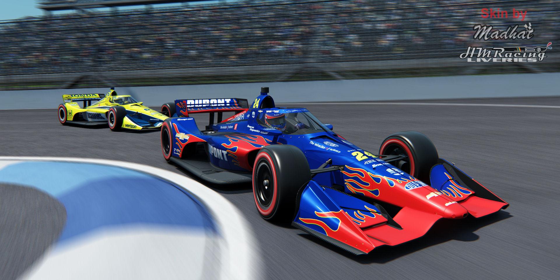 DU PONT Jeff Gordon 24 IndyCar Madhat HMRacing Liveries 04.jpg