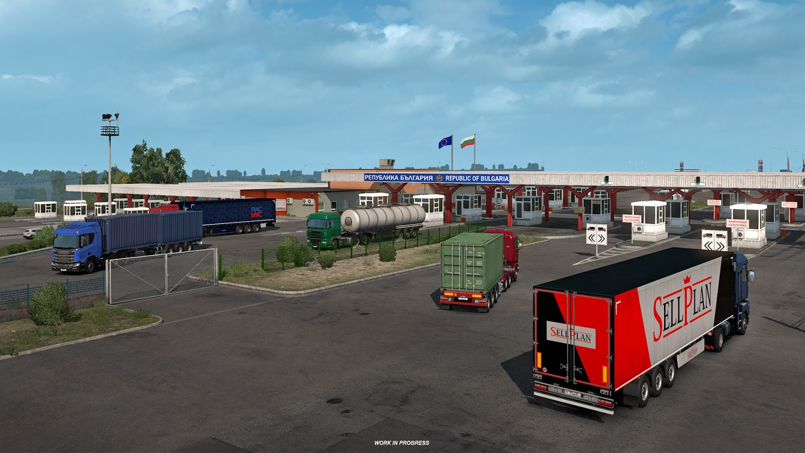 ETS 2: 'Road to the Black Sea' Border Crossing Previews