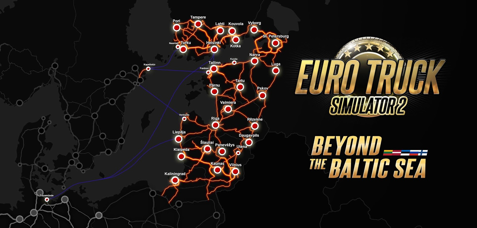 ETS2 'Beyond the Baltic Sea' DLC Launches November 29th