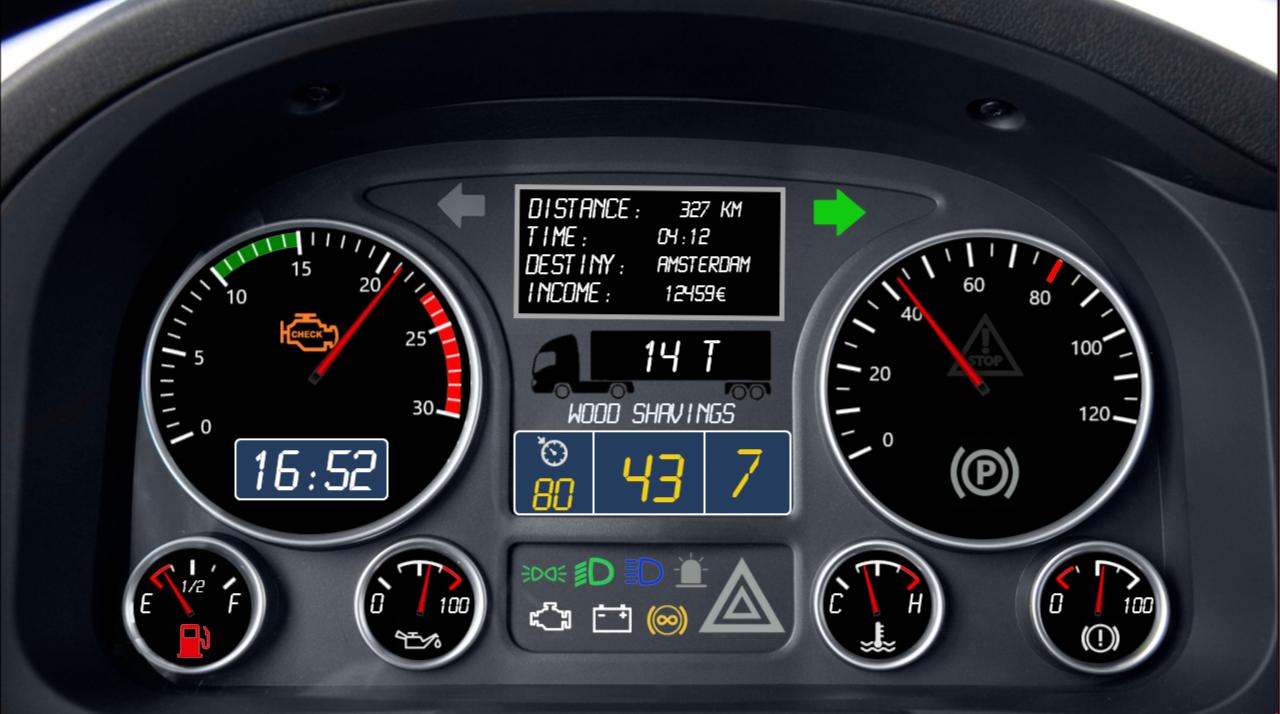 SimHub Dashboard For Euro Truck Simulator 2 | RaceDepartment