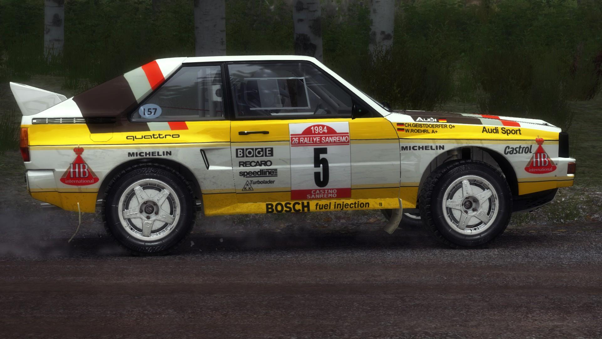 HB Audi 1984 livery for Audi Sport Quattro Rallye | RaceDepartment Audi Quattro Group B on alfa romeo group b, audi rally group b, audi 90 group b, ford group b, mitsubishi starion group b, audi s2 group b, audi wrc, audi cars, audi sport, opel manta group b, ferrari group b, subaru impreza group b, bmw group b, peugeot group b, renault group b, porsche group b, lancia group b,