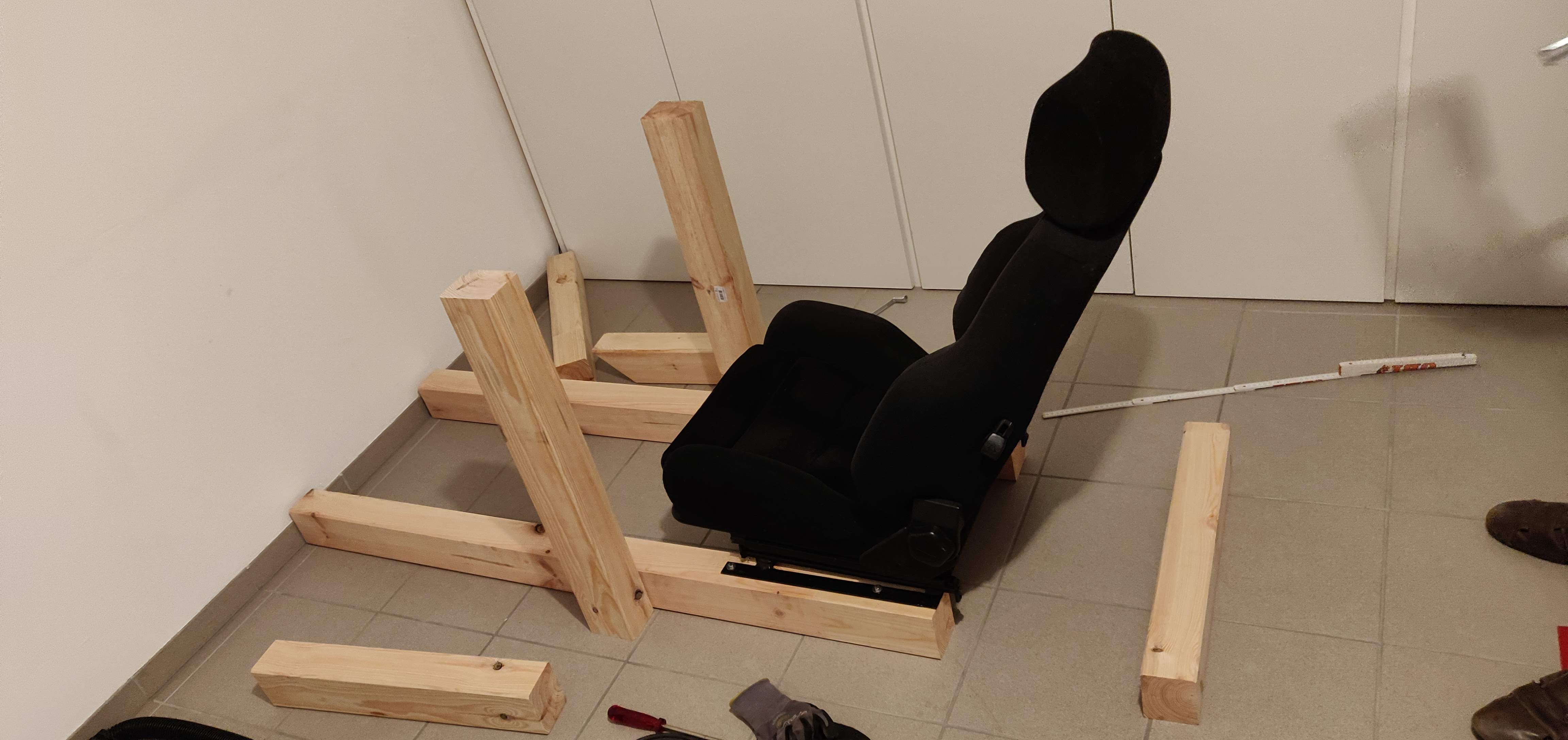 Diy Wood Sim Rig With All Components And Some Guideline Measurements Racedepartment