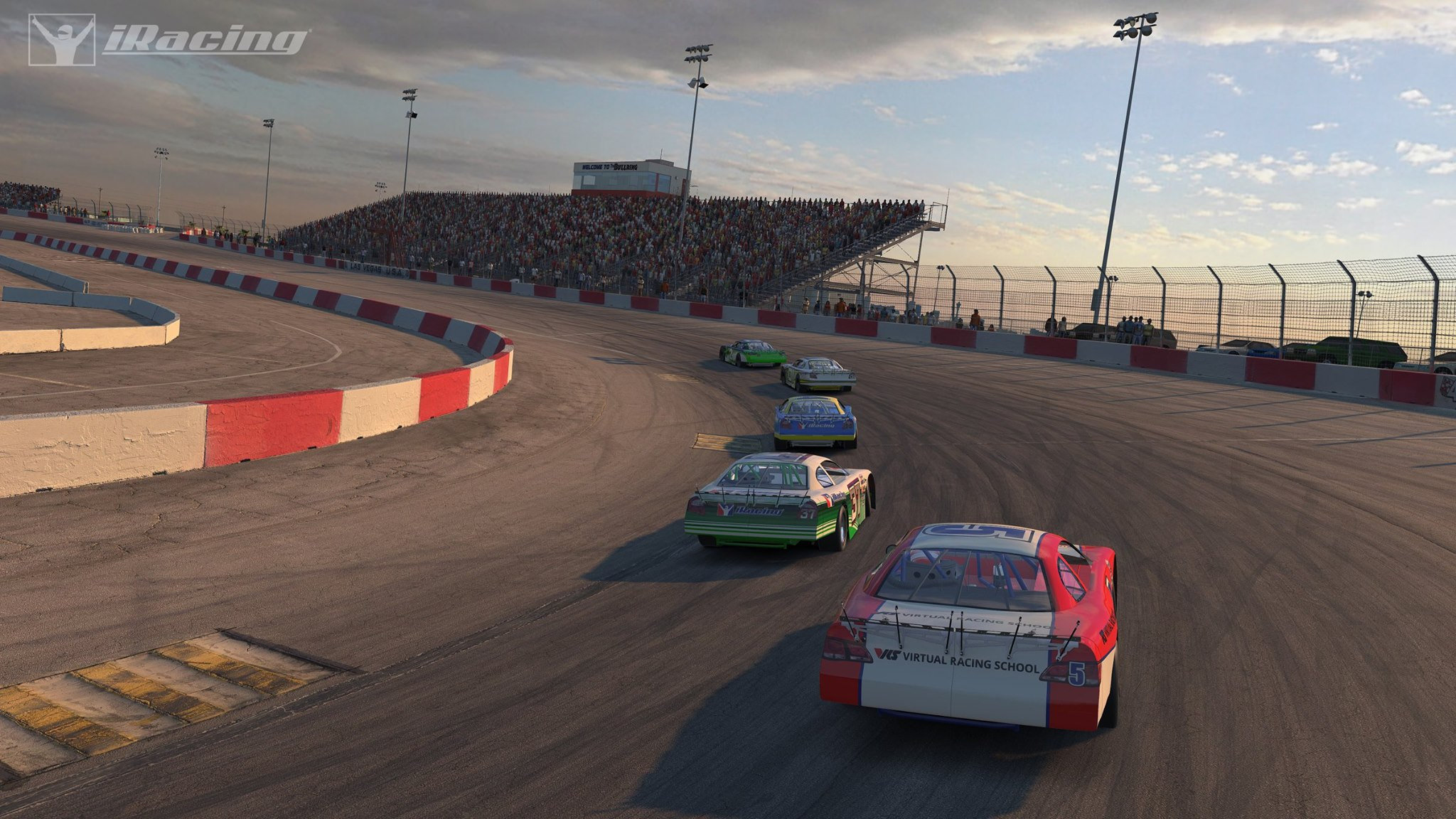 Iracing lvms bullring preview video released racedepartment for Las vegas motor speedway driving experience