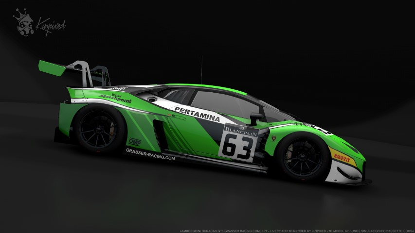 lamborghini huracan gt3 grasser racing concept 63 by kinpixed racedepartment. Black Bedroom Furniture Sets. Home Design Ideas