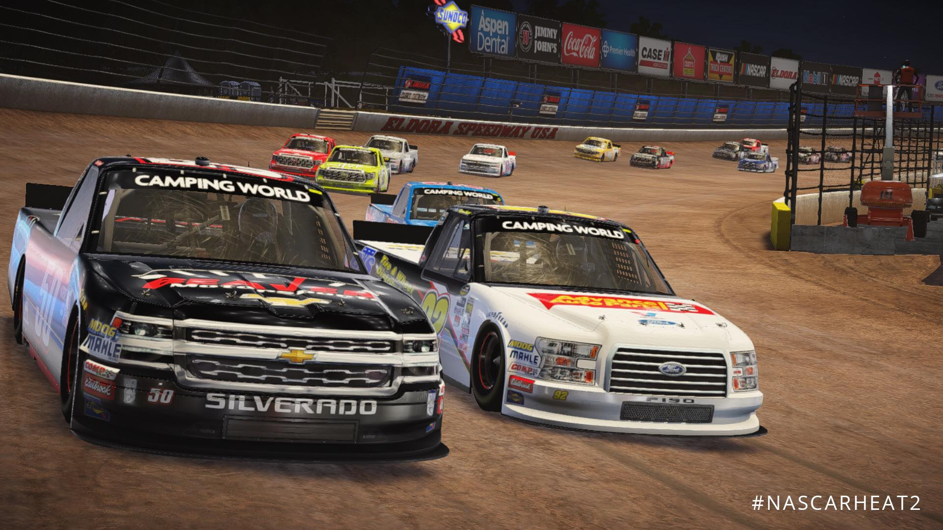 nascar heat 2 new eldora trucks dirt trailer racedepartment. Black Bedroom Furniture Sets. Home Design Ideas