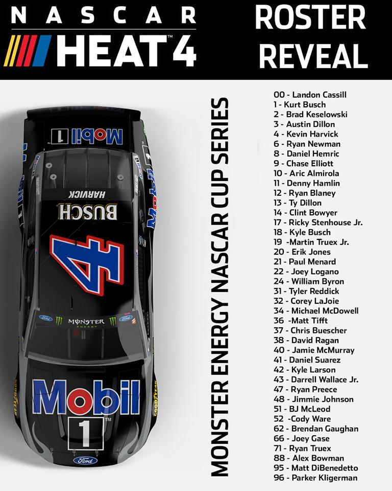 NASCAR Heat 4 Nascar Roster .png