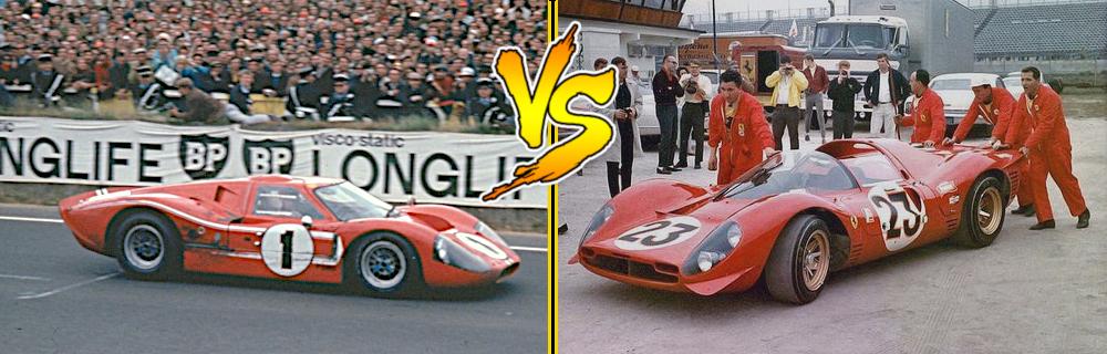 Car Vs Car Ferrari 330 P4 Versus Ford Gt40 Mkiv Racedepartment