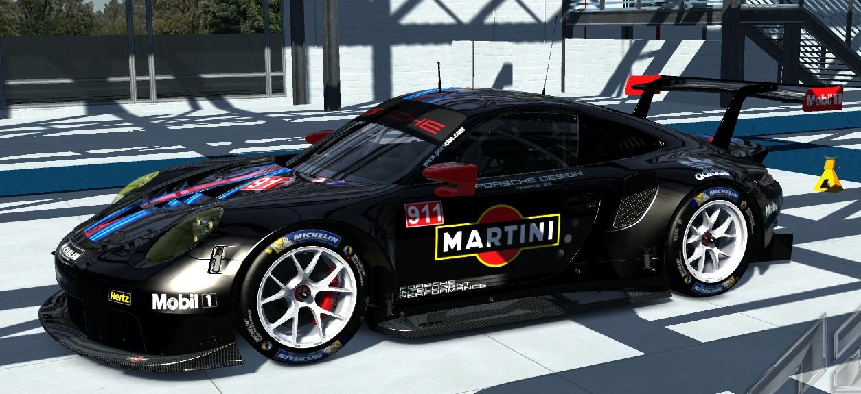 2017 martini porsche 911 rsr skins added white rim racedepartment. Black Bedroom Furniture Sets. Home Design Ideas