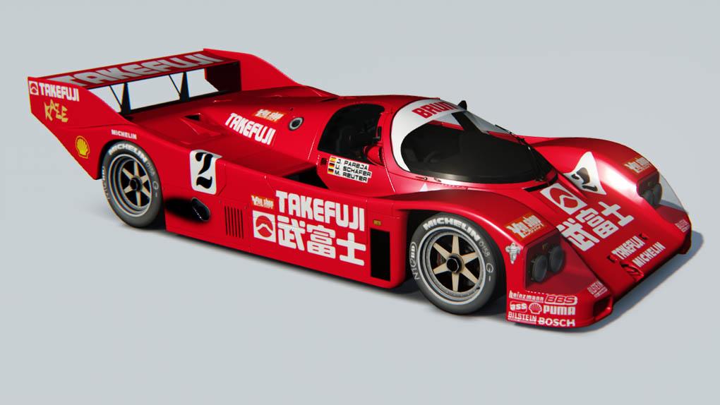 Larrauri Pa Porsche 962 C Brun Motorsport #2 3rd 1000km Nürburgring 1987 Mass