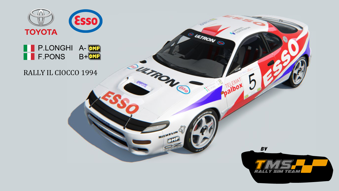 Toyota Celica st185 Rally Car (Rally Siocco 1994) | RaceDepartment