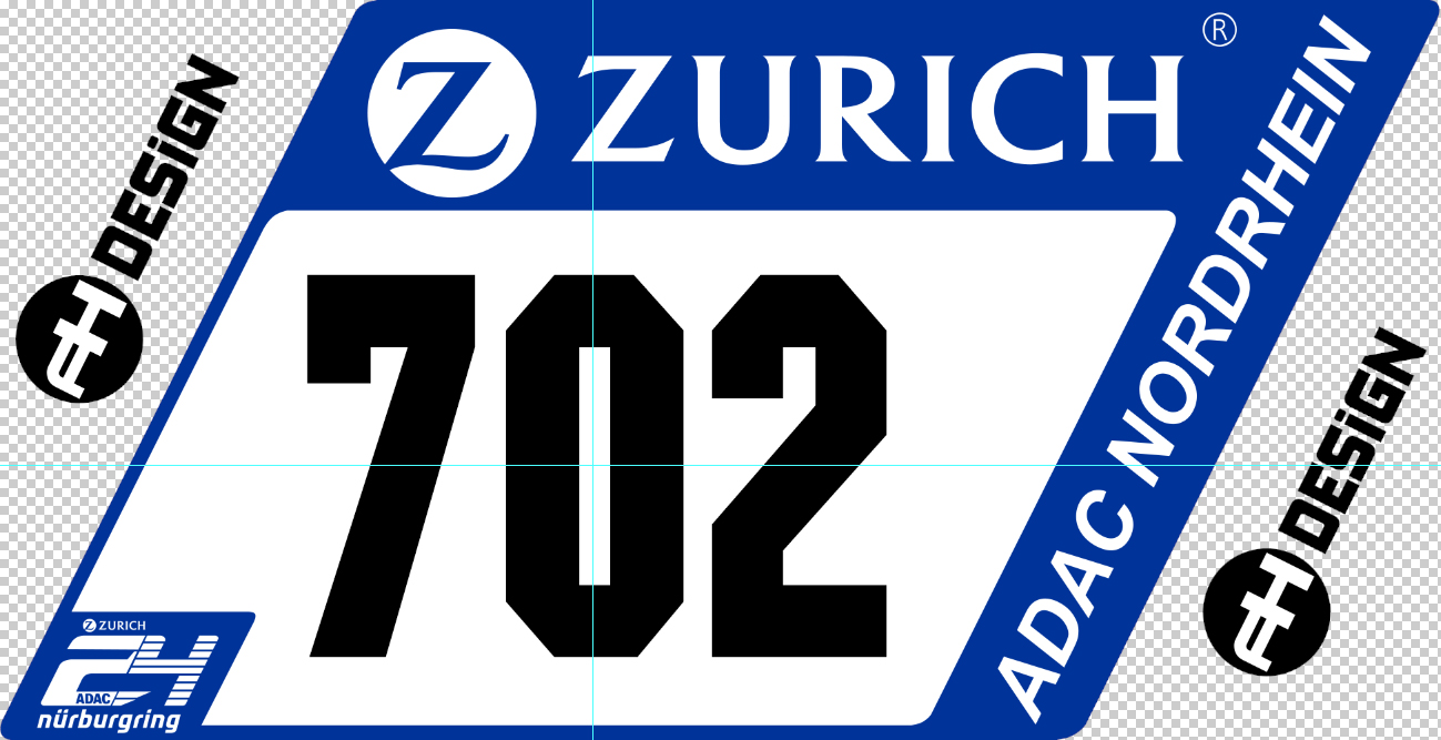ADAC Zurich 24h-Race 2017 numberplate | RaceDepartment