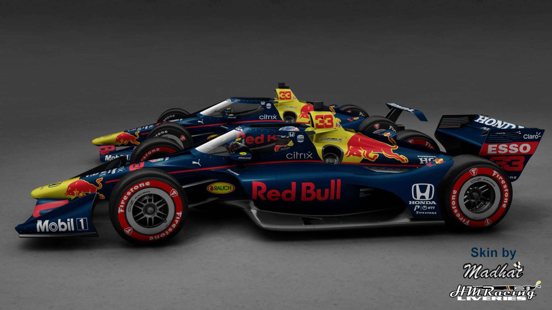 RED BULL 33 Matte IndyCar Madhat HMRacing Liveries 02.jpg