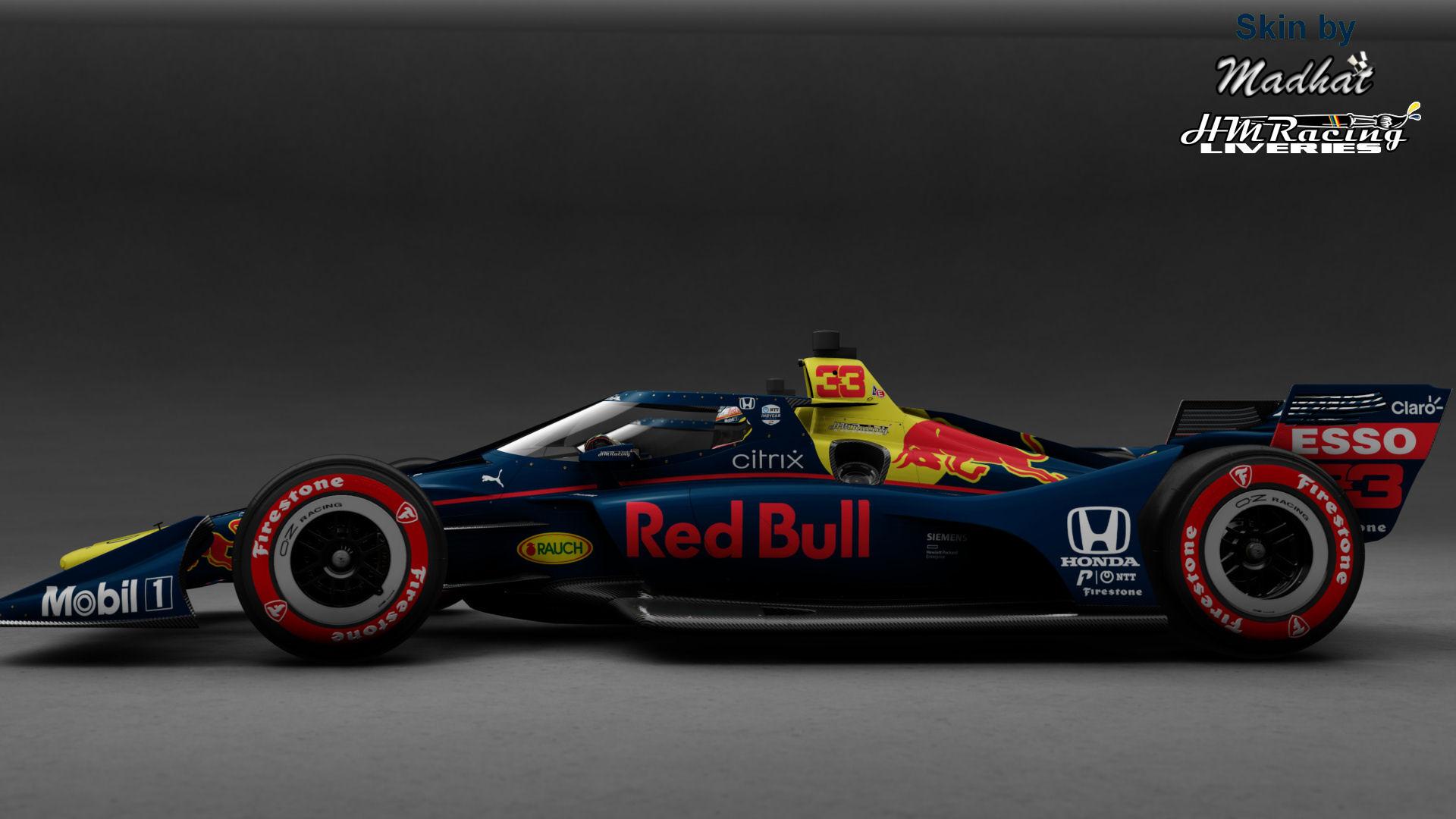 RED BULL 33 Matte IndyCar Madhat HMRacing Liveries 03.jpg