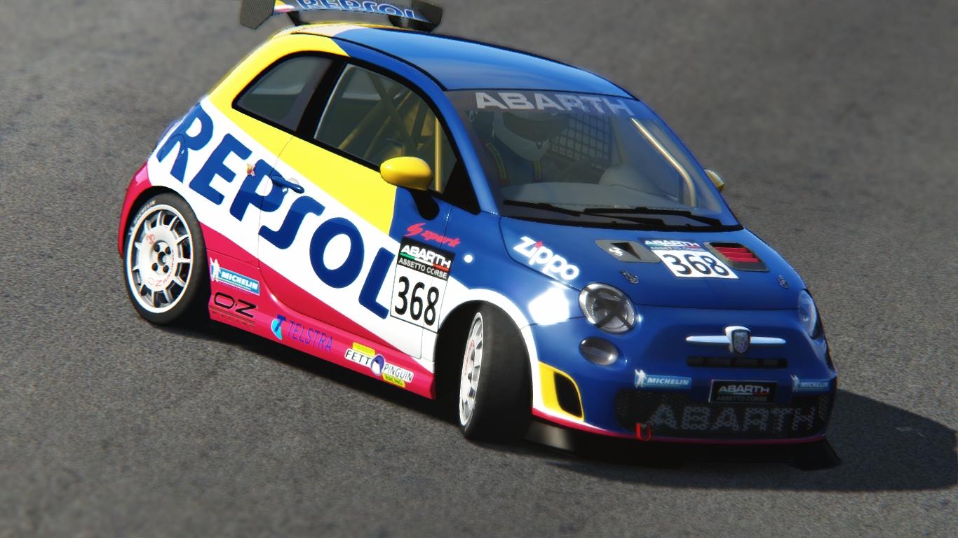 Repsol Abarth 500 Assetto Corse Racedepartment