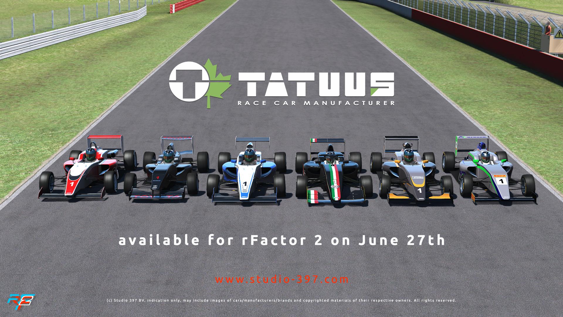 rF2 Development Roadmap: Tatuus Coming Soon
