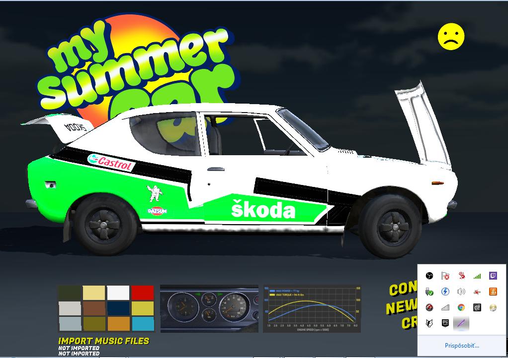 My Summer Car Satsuma Skin Castrol škoda Datsun