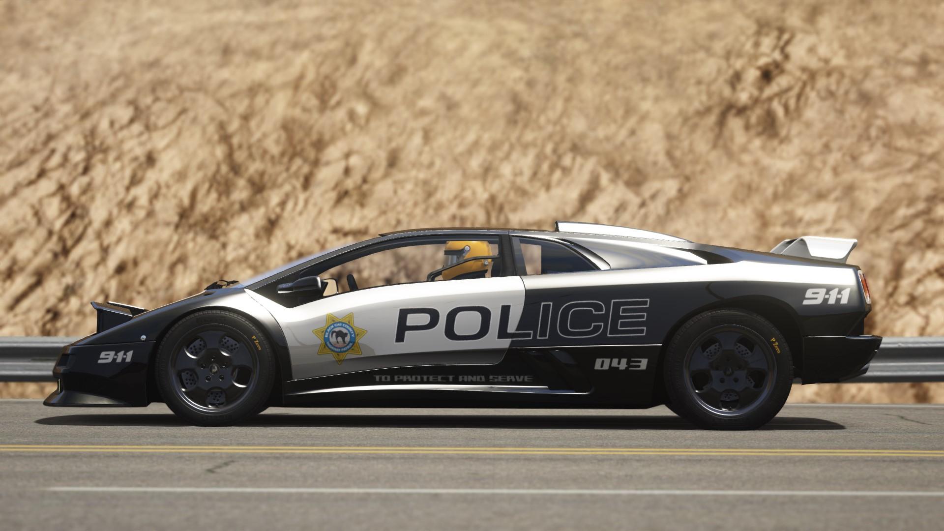 Black Cat County Police Interceptor Skin For Diablo Se30