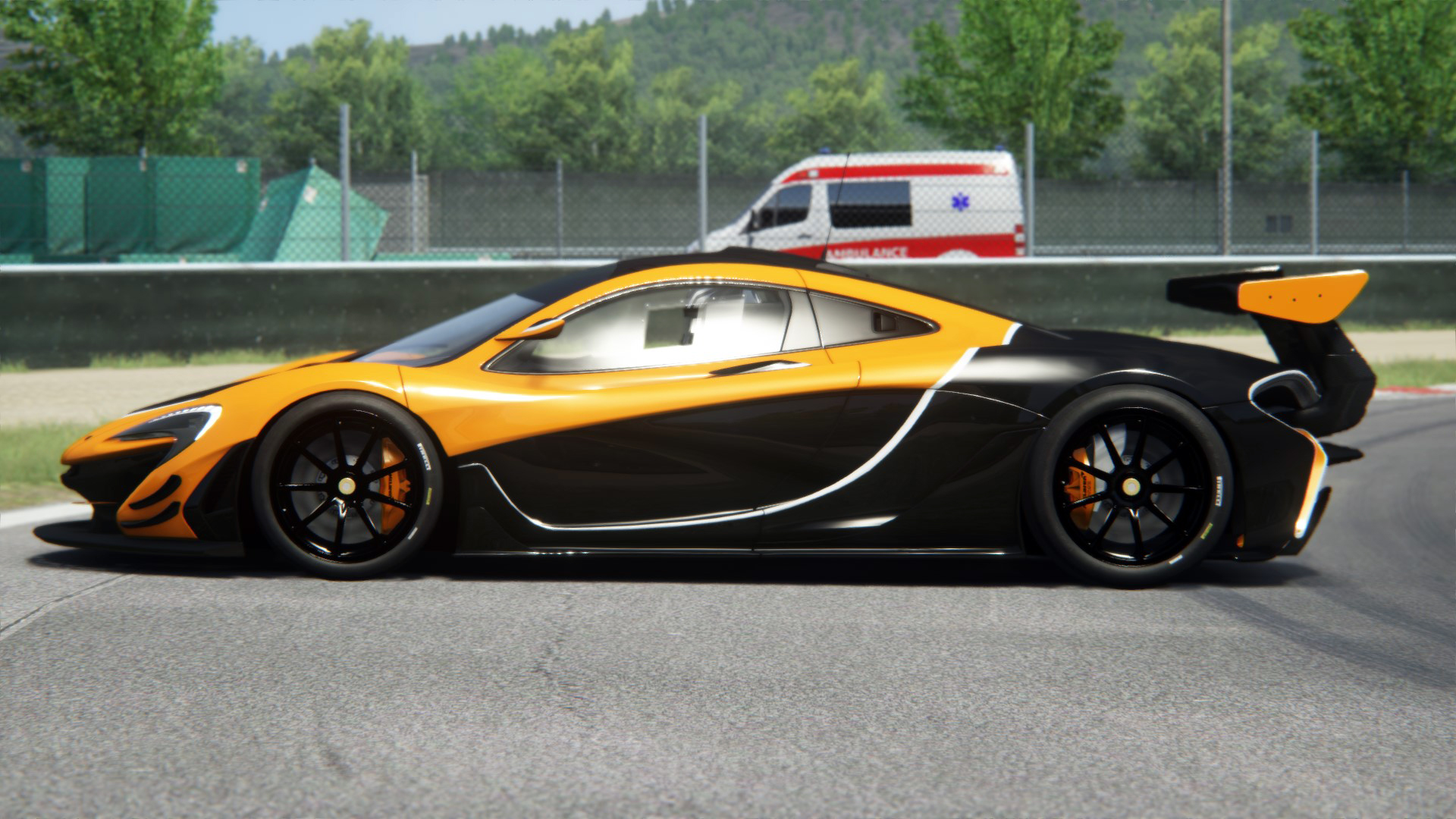 mclaren p1 gtr orange black racedepartment. Black Bedroom Furniture Sets. Home Design Ideas