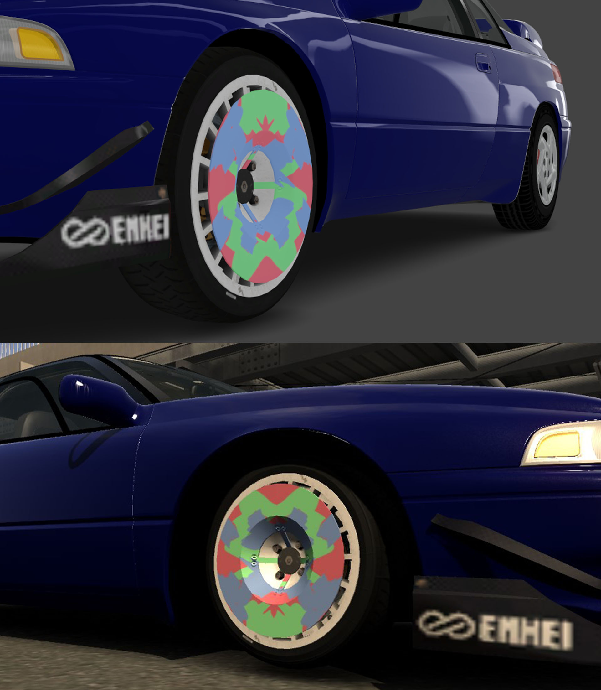 Change rims/tires size in 3dSimEd - visual issue