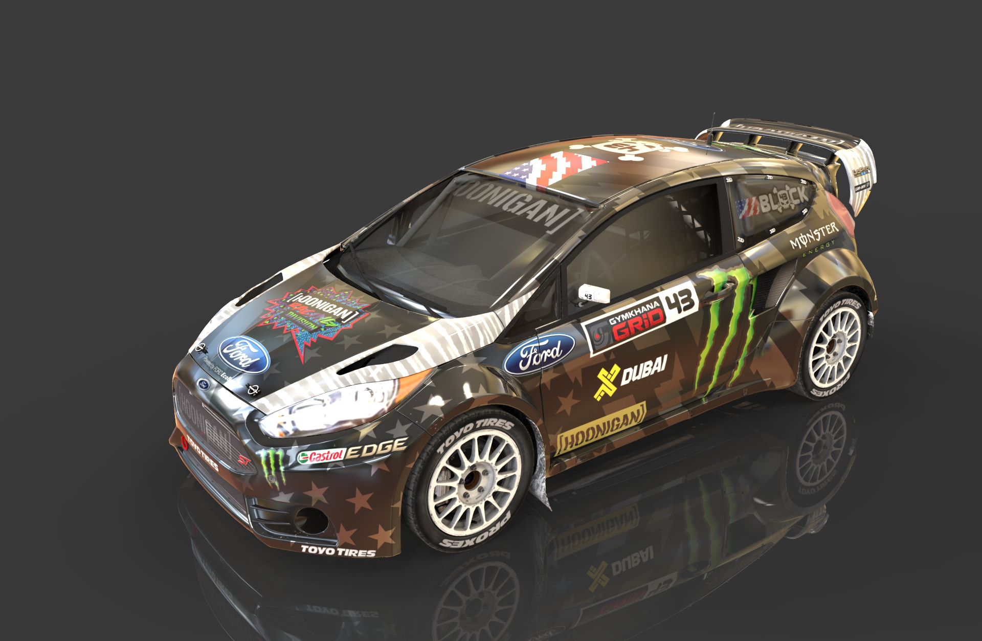 ford fiesta st rx ken block 2016 ultra reflective livery gymkhana 8 rac. Cars Review. Best American Auto & Cars Review