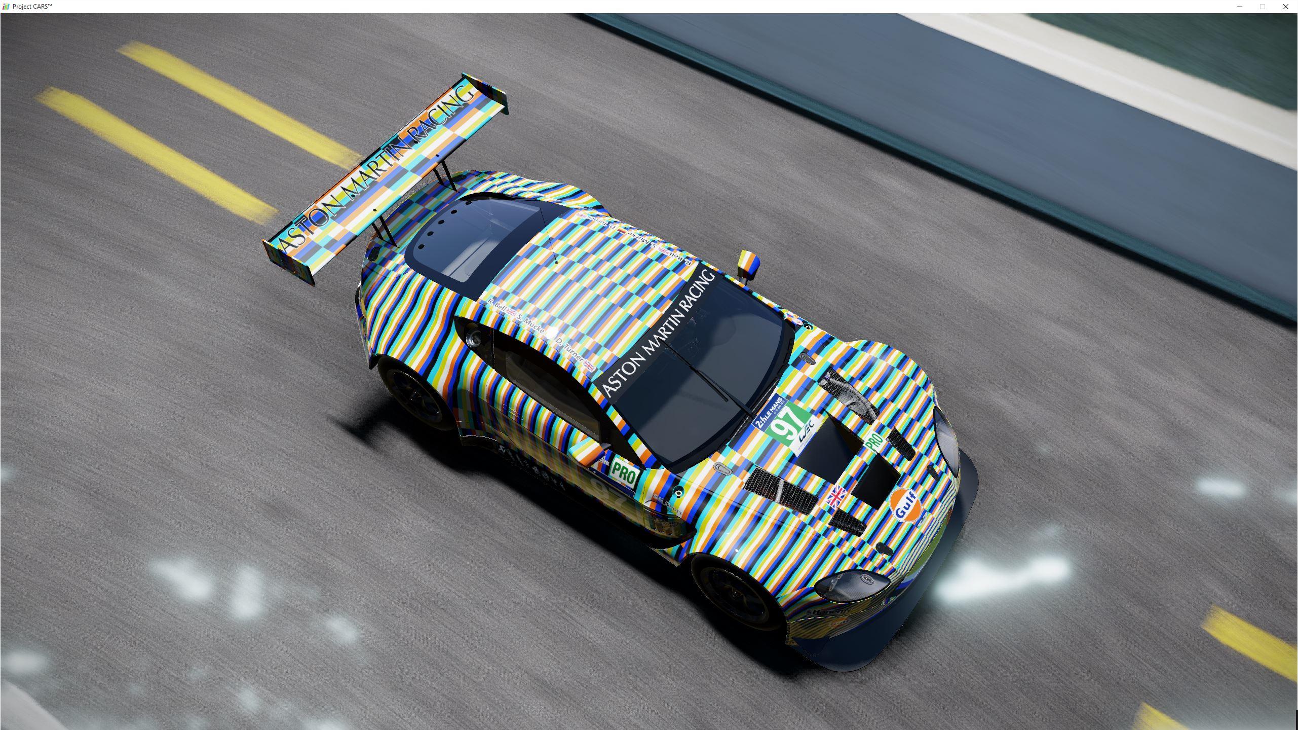 Aston Martin 2015 Le Mans Art Car - Aston Martin 2015 Le Mans Art Car - mirrors and sideboards ...